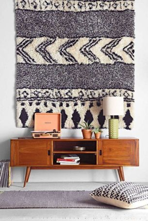 Rugs are just as effective off the floor as they are on.