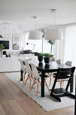 A Scandinavian inspired dining set.