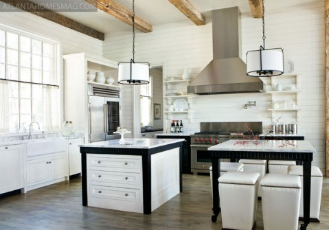 A dual island top makes the perfect enviroment for cooking and entertaining.