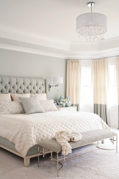 A subtle blend of light green and nude creates a welcoming atmosphere.