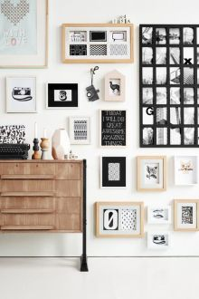 A fun and functional approach to framed photos.