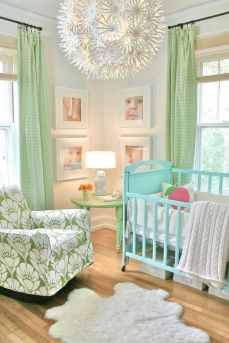 An exciting mix of old and new are brought togther to create a stylish yet functional nursery.