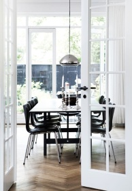 Divine dining with a bold black dining set.