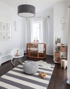 Neutral nursery fit for any child.