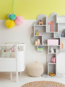 A creative and colorful girls room.