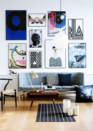 A colorful and creative gallery wall.