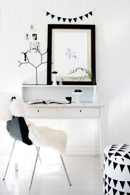 Add a vanity with minimal decor if grooming is your main priority.