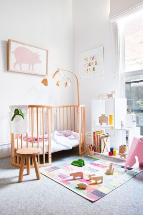 A polished pink nursery.