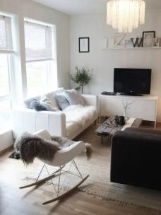 Scandinavian inspired winter living room.