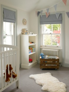 Angelic and pure, this white nursery promotes a calm and breezy atmosphere.