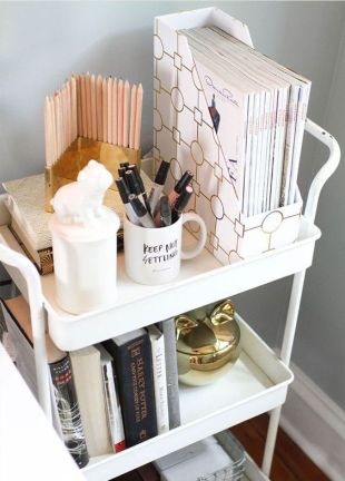 Chic desk organizer.