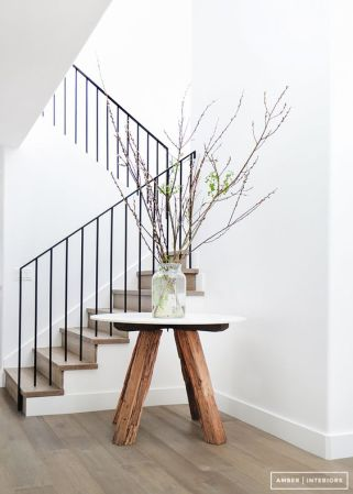 An entryway table can be a statement too.