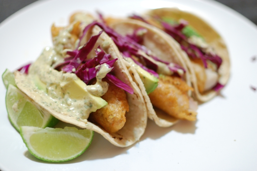 Beer-Battered-Fish-Tacos-with-Spicy-Cilantro-Cream-Sauce-1