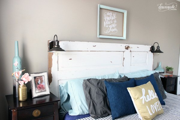 diy-vintage-door-headboard-bedroom-ideas-diy-doors