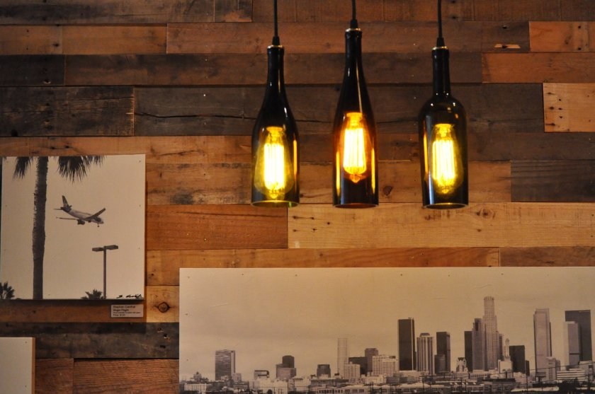 DIY Wine Bottle Lamps 2