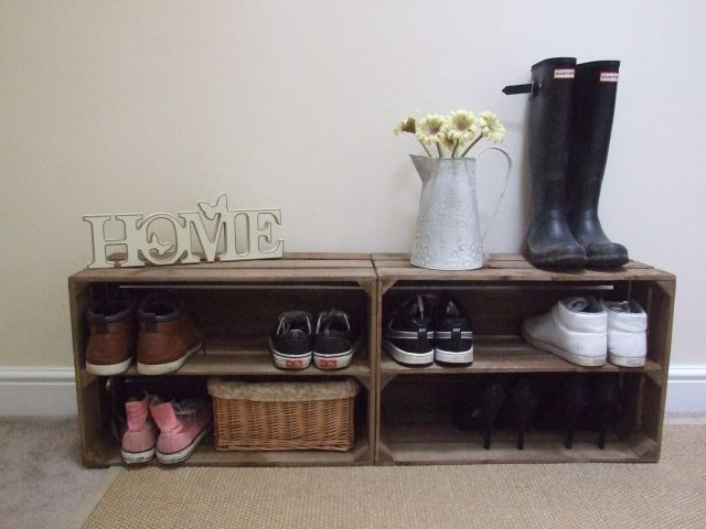 Image result for crates for shoe storage
