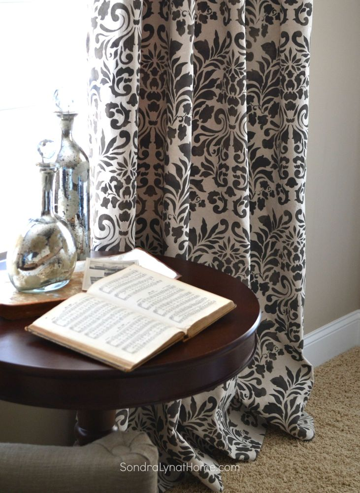 stencilled-curtains-from-drop-cloths-crafts-how-to-reupholster