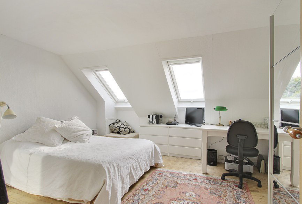 White-Nordic-attic-and-bedding