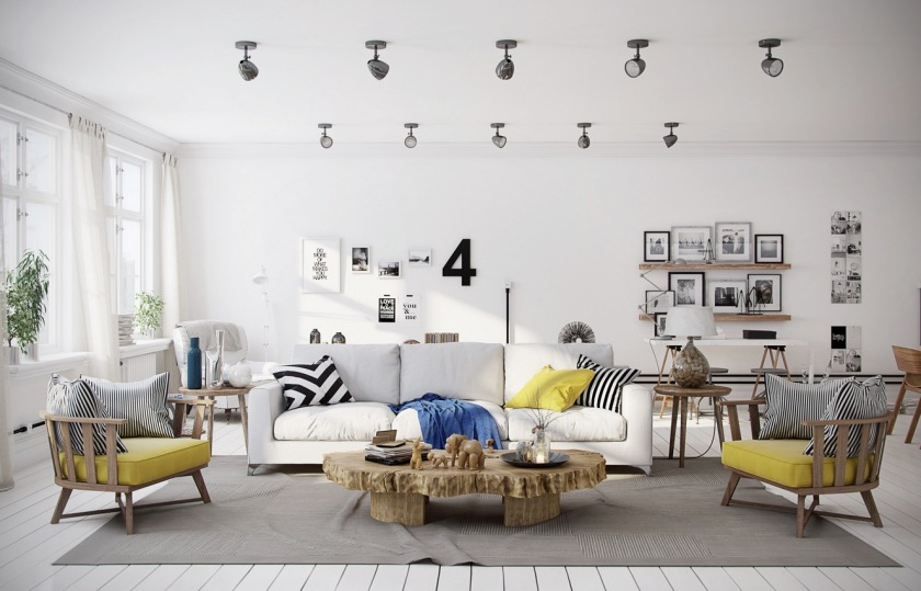 chevron-yellow-living-room