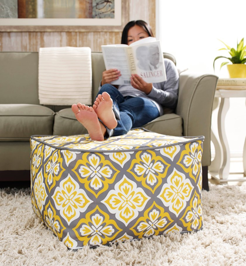 chic-large-square-pouf-ottoman-in-gray-and-yellow-with-floral-pattern-on-white-rug-plus-gray-sofa-for-living-room-decor-ideas-white-pouf-ottoman-crocheted-pouf-ottoman-how-to-make-pouf-ottoman-fabric