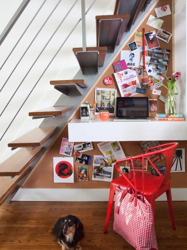 Utilize-the-small-space-under-the-stairs