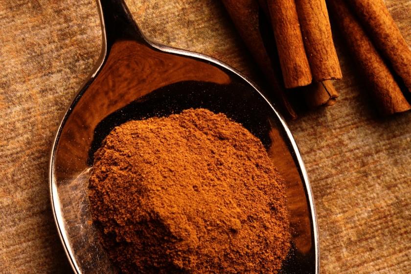 Cinnamon Spoon on Light Ground