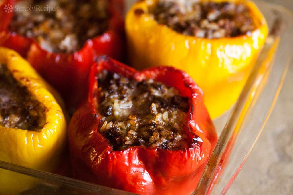 Peppers Stuffed with Stuffing! Grab a few bell peppers and fill them ...